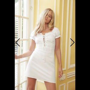 Nasty Gal cotton white mini dress 6